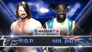 SMACKDOWN FINALS: AJ STYLES vs. KOFI KINGSTON - Madden 18 Superstar Tournament - Gamer Gauntlet