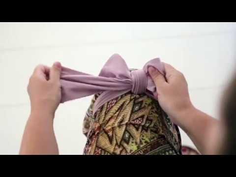 How to tie a Bow Headband - Harpa's Nest