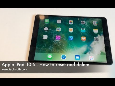 Apple iPad Pro 10.5 - How to delete and reset | ENGLISH 4K