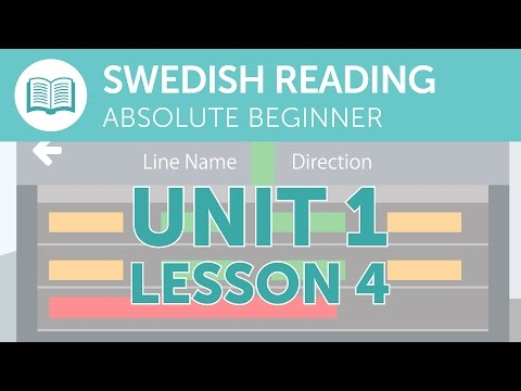 Swedish Reading Practice for Absolute Beginners - A Swedish Notice at the Station