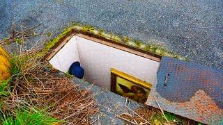 kid finds secret room inside his house...