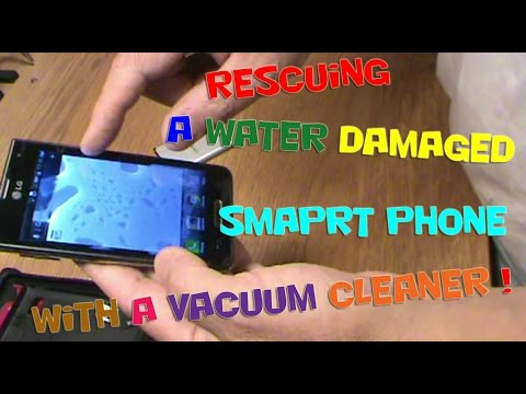 Rescuing a water damaged smaprt phone with a vacuum cleaner !