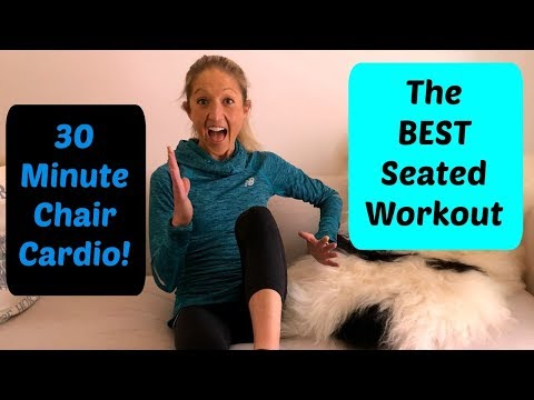 The Best Seated Workout. This Chair Cardio Routine Will KICK Your Butt!