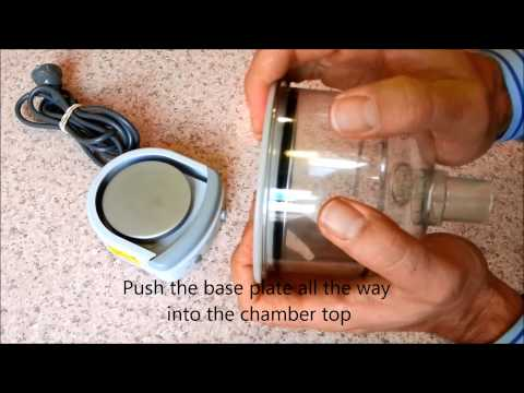 F&P HC150 Humidifier - How to take the chamber apart for cleaning