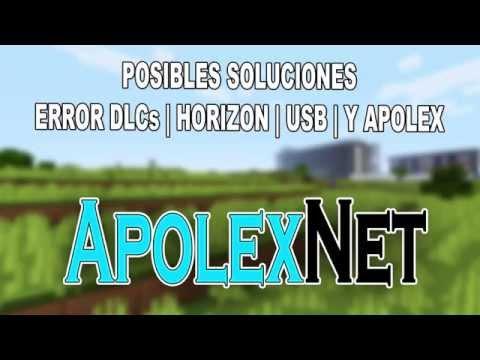 Solución de DLCs Error   HORIZON   USB   Y APOLEX