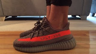 yeezy beluga on feet Yeezy Boost 350 v2 Beluga Solar Red Review + On Feet