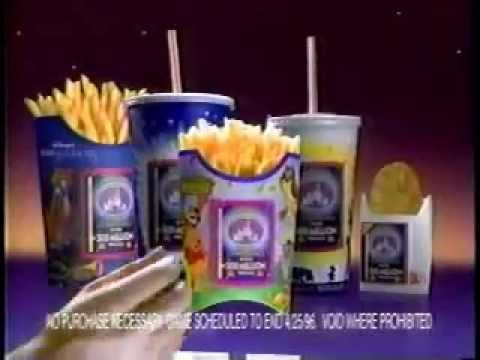McDonald's Disney Masterpiece Trivia Challenge Ad from 1996