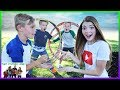 PLAYGROUND WARS! - Hula Hoop Hop ROCK PAPER SCiSSORS Train  / That YouTub3 Family | The Adventurers