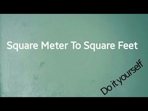 Square meter to square feet | m2 to ft2 | in Bengali | #Mohd._Abdul_Zabbar