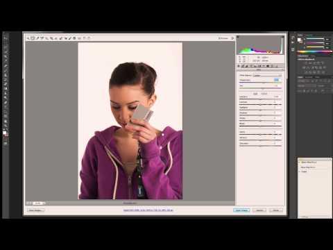 Adobe Photoshop - How To Set A Custom White Balance Using A Grey Card