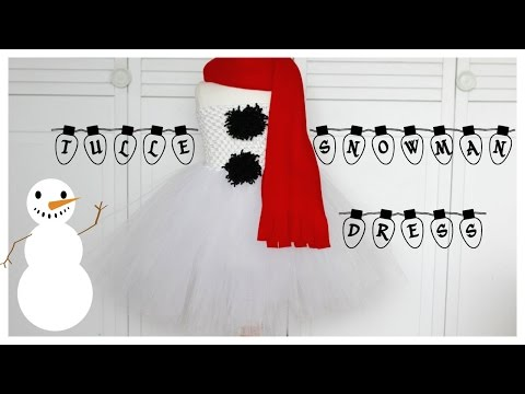 DIY Tulle Snowman Dress| Quick & Easy Costume