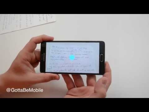 How to Scan Notes with the Galaxy Note 4