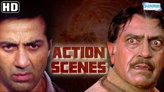 Action Scenes from Salaakhen (1998)(HD) Sunny Deol - Amrisah Puri - Anupam Kher - Hit Hindi Movie