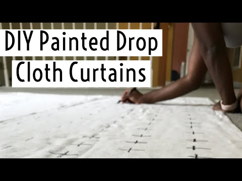 Homemaking Project: DIY Painted Drop Cloth Curtains