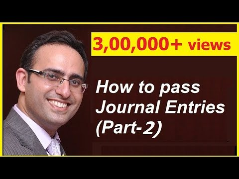 How to make Journal Entries (Video-2) (Related to Capital introduced)