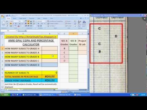 AMIE GPA Calculator, AMIE CGPA Calculator, AMIE GPA to Percentage Calculator