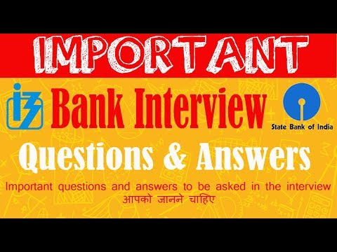 Bank Interview's Questions and Answers (in Hindi)