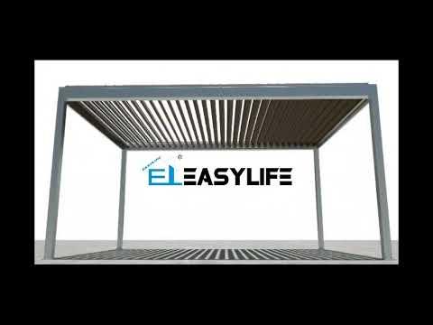 Easylife Aluminum sunshade louver pergola roof system