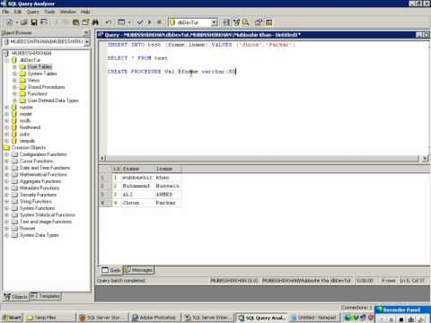 MKhan Tutorials: How to Create a Stored Procedure in SQL Server 2000
