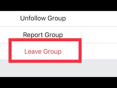 How to leave Facebook Group on iPhone