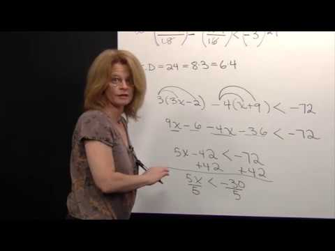 Solving a Linear Inequality that Involves Fractions