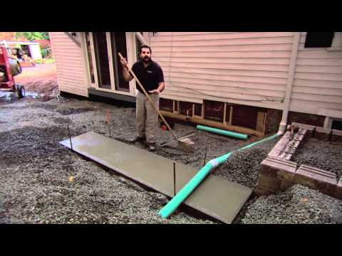 Concrete Slab for Grill Island