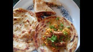 Cheesy Anda Paratha and Spicy Chicken Recipe