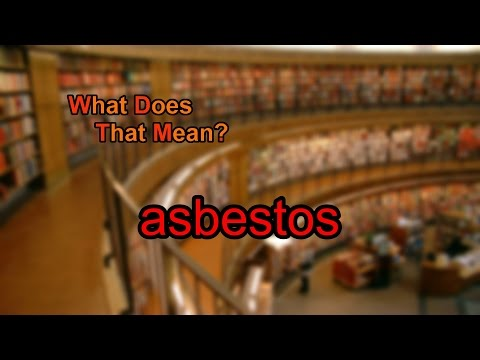What does asbestos mean?