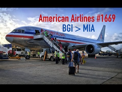American Airlines FULL FLIGHT Barbados to Miami | Boeing 767