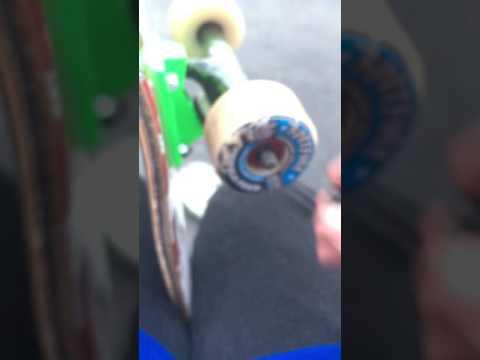 How to put skateboard wheels on. EASIEST WAY!!!