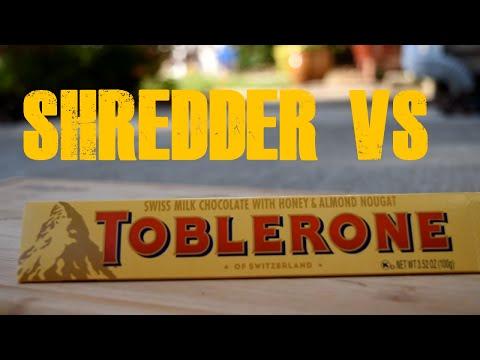 Chocolate vs Shredder   SLOW MOTION 750fps