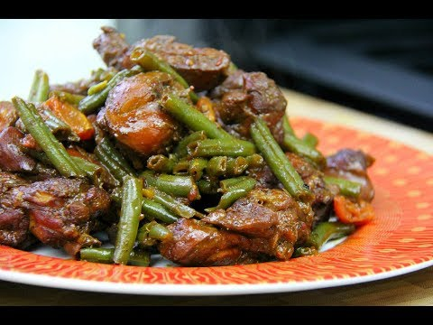 Ginger Stewed Chicken With String Beans #TastyTuesdays | CaribbeanPot.com