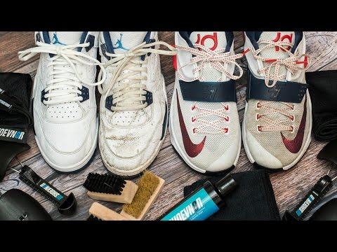 How to deep clean dirty KD 7's and Jordan Columbia 4's with Reshoevn8r