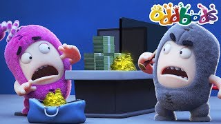 Oddbods NEW Episodes - BANK ROBBERY   The Oddbods Show   Funny Cartoons For Children