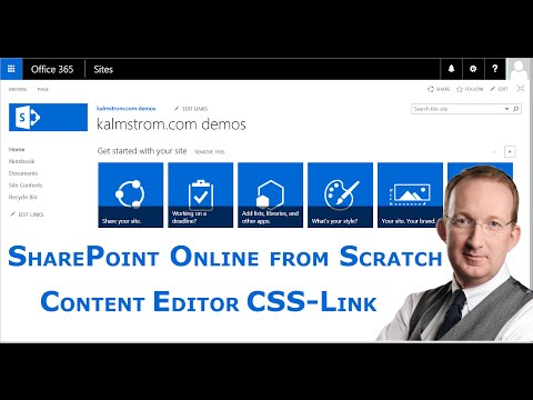 SharePoint Content Editor Web Part 3 - Linked CSS