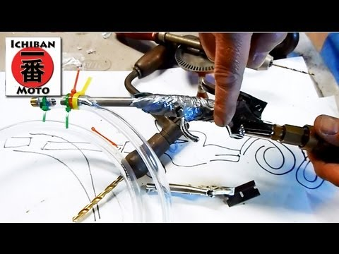 How to make a  Blasting Gun and Cabinet for Sand Blasting or Soda Blasting parts