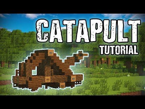 Medieval Catapult Tutorial (Minecraft)