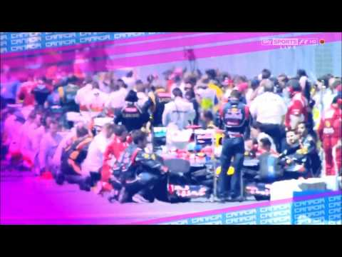 Formula one 2012 Canadian GP race musical ending footage Sky Sports F1