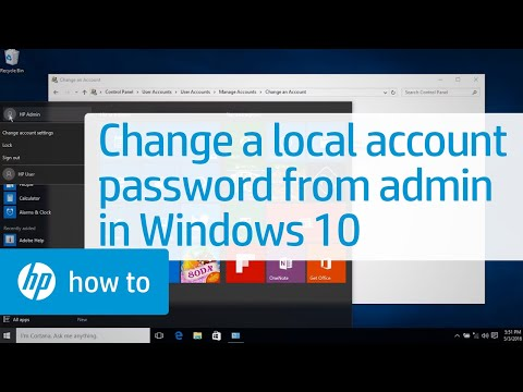 Changing a Local User Account Password from an Administrator Account in Windows 10