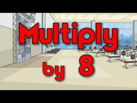 Multiply by 8 | Learn Multiplication | Multiply By Music | Jack Hartmann
