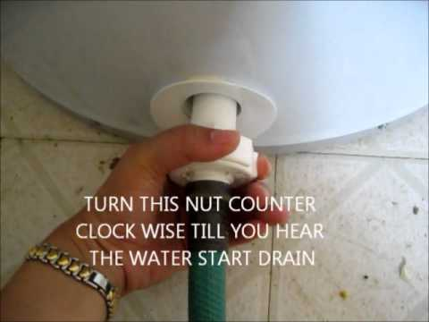 How to drain GE water heater