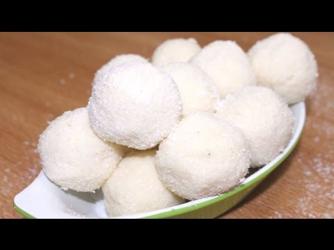 How to make coconut ladoo with condensed milk - Coconut Laddu Recipe