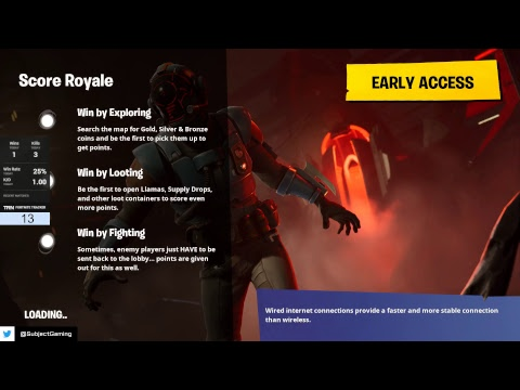 Fortnite l PC l LIVE l NEW SCORE ROYALE GAMEMODE
