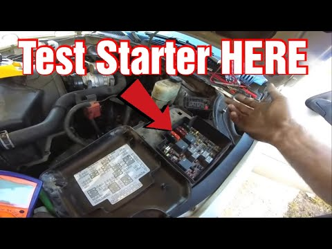 How To Test A Starter Without Having To Touch The starter.
