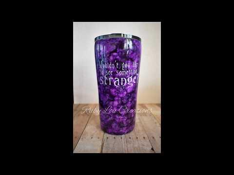 Alcohol Ink Tumbler Jack Skellington Tutorial