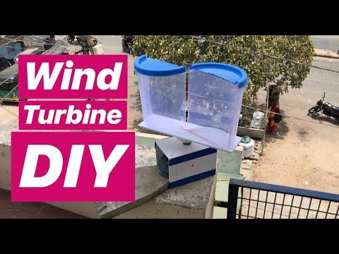 How to Make Windmill Project for school at home   DIY   wind turbine
