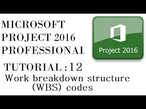 Work Breakdown Structure (WBS) Codes in Microsoft Project 2016 - Tutorial 12