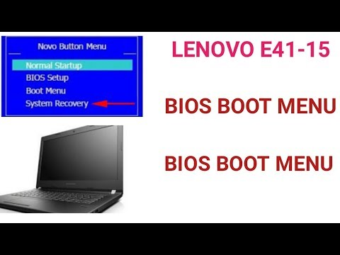 How to Boot Lenovo E41-15 Boot Menu  and  Bios access