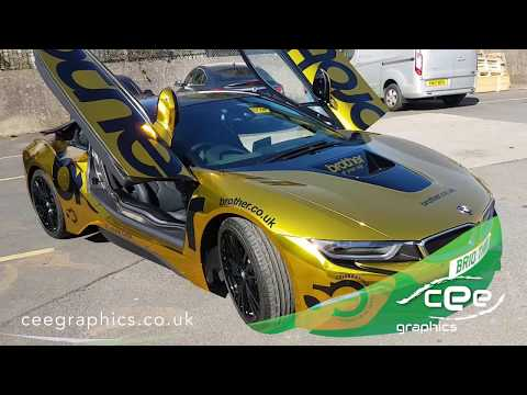 Satin Chrome Yellow Bmw I8 Wrapped By Yiannimize Video Download