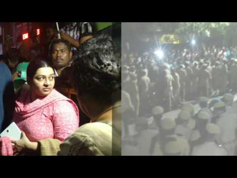 CM Jayalalithaa's niece not allowed inside Apollo Hospitals in Chennai